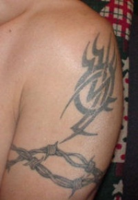Barb wire tribal tattoo